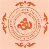 Ornamento indio nativo con OM. Fotos de archivo