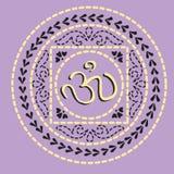 Ornamento indio nativo con OM. Imagen de archivo