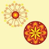 Ornamento indio nativo, mandala. Imagenes de archivo