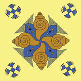 Ornamento indio nativo, mandala. Foto de archivo
