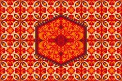 Ornamento Indonésia do Batik do Javanese de Kawung do projeto do teste padrão do fundo foto de stock