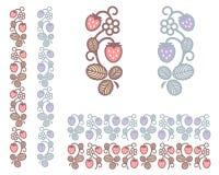Ornamento insolito di colori della fragola Immagini Stock Libere da Diritti