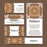 Ornamento islámico de Marruecos de las tarjetas de visita Imagenes de archivo
