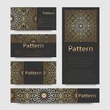 Ornamento islámico de Marruecos de las tarjetas de visita Imágenes de archivo libres de regalías