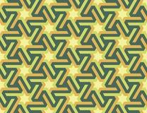 Ornamento islámico geométrico inconsútil con las estrellas hexagonales Imágenes de archivo libres de regalías