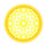 Ornamento islamico dorato Fotografia Stock Libera da Diritti