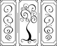 Ornamento isolato del fiore illustrazione vettoriale