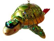 Ornamento isolato della tartaruga di mare fotografie stock
