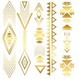 Ornamento istantaneo dell'oro di tatto Immagine Stock