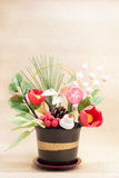Ornamento japonés del día de fiesta para el día de Años Nuevos fotos de archivo