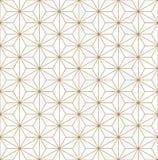 Ornamento japonês tradicional sem emenda Kumiko Linhas de cor douradas imagens de stock royalty free