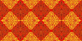 Ornamento kazako Immagine Stock Libera da Diritti