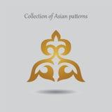 Ornamento kazako lussuoso per i precedenti e la progettazione Fotografia Stock