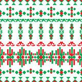 Ornamento linear sem emenda no estilo étnico Fotografia de Stock Royalty Free