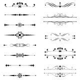 Ornamento & linhas tipográficos da regra Fotografia de Stock