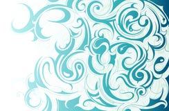 Ornamento liquido dell'acqua royalty illustrazione gratis
