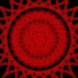 Ornamento luminoso rojo Imágenes de archivo libres de regalías