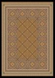 Ornamento lussuoso in tonalità marrone chiaro per tappeto classico Fotografia Stock Libera da Diritti