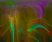 Ornamento mágico creativo, plantilla artística, elegancia, dinámica del fractal digital abstracto ilustración del vector