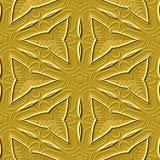 Ornamento maias amarelos Imagens de Stock Royalty Free