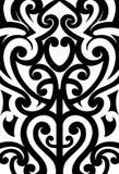 Ornamento maori di stile fotografia stock
