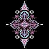 Ornamento mexicano del vector tribal, africano étnico stock de ilustración