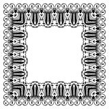 Ornamento moderno do estilo na forma quadrada Foto de Stock Royalty Free