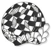 Ornamento monocromático abstrato do zentangle Foto de Stock