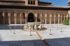 Ornamento Moresque exteriores de Alhambra Islamic Royal Palace, Granada, imagem de stock royalty free