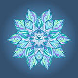 Ornamento multicolore circolare floreale Royalty Illustrazione gratis