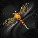Ornamento na libélula do ouro Imagens de Stock Royalty Free