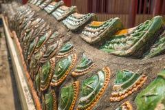 Ornamento na serpente do mundo no templo da Buda, Tailândia Fotografia de Stock Royalty Free