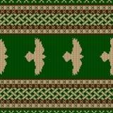 Ornamento nacional céltico inconsútil hecho punto  libre illustration
