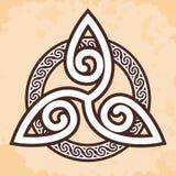 Ornamento nacional celta ilustração stock