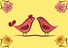 Ornamento nacional con los pájaros. Foto de archivo libre de regalías