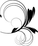 Ornamento negro del diseño con las flores Imágenes de archivo libres de regalías
