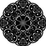 Ornamento negro retro Imágenes de archivo libres de regalías