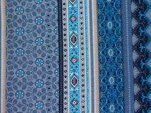 Ornamento nei toni blu Fotografia Stock Libera da Diritti