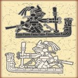 Ornamento nello stile del Maya Immagini Stock Libere da Diritti