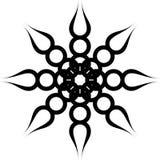 Ornamento nero di torsione Fotografie Stock