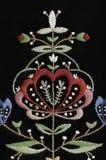 Ornamento norvegese floreale Fotografia Stock