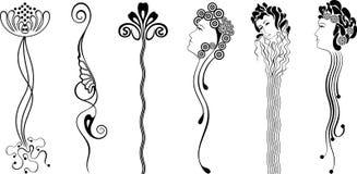 Ornamento (nouveau da arte) Imagens de Stock