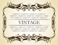 Ornamento novo do vintage do frame Fotografia de Stock Royalty Free