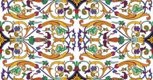 Ornamento ofPersian do teste padrão sem emenda Teste padrão barroco floral do vintage, persa italiano imagens de stock