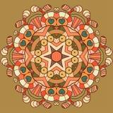 Ornamento organico del pizzo del cerchio Fotografie Stock