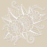 Ornamento oriental da flor Imagem de Stock