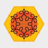 Ornamento oriental da flor do vetor Imagens de Stock Royalty Free