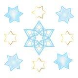 Ornamento oriental das estrelas de David do feriado Fotos de Stock Royalty Free