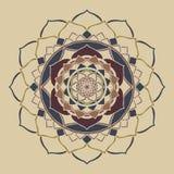 Ornamento oriental de los colores neutrales elegantes del boho de la mandala ilustración del vector