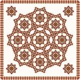 Ornamento oriental en el mantón Foto de archivo libre de regalías